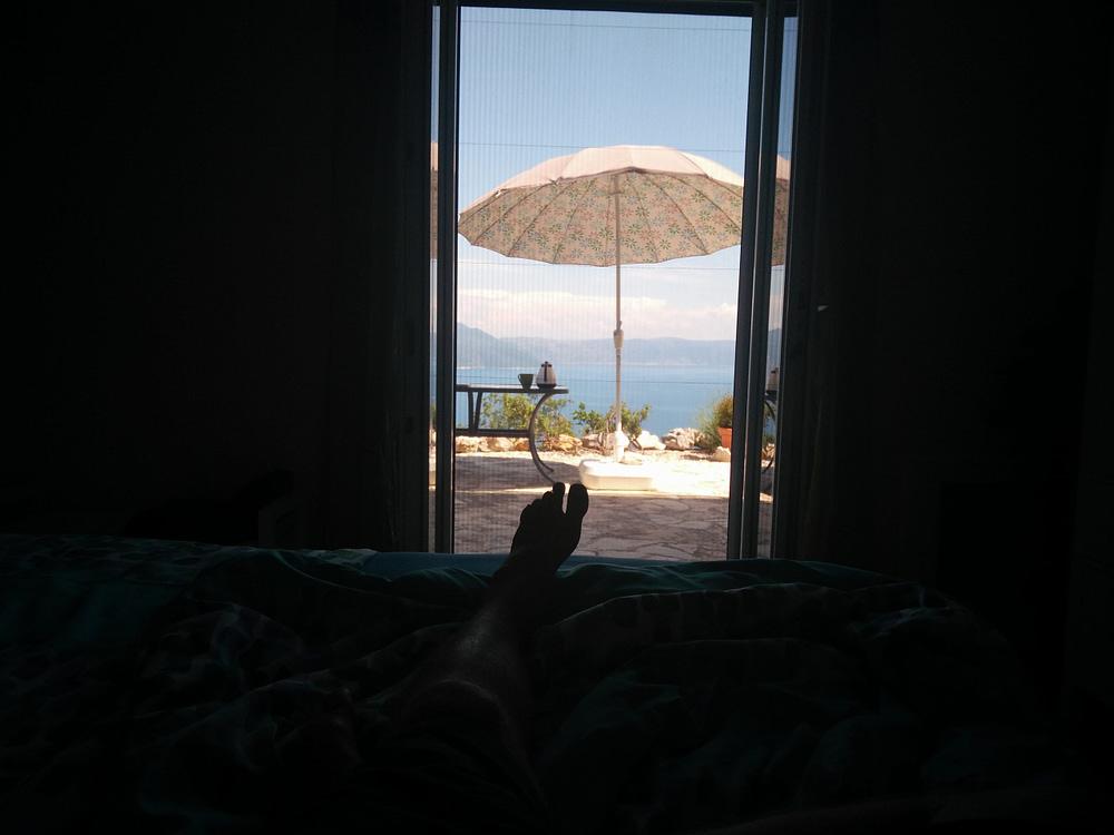 Die Reise des Hans im Glück - Blick vom Bett aus